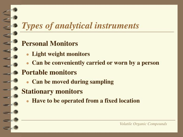 Types of analytical instruments
