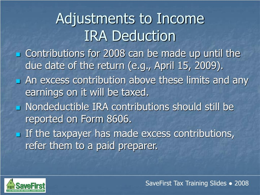 Contributions for 2008 can be made up until the due date of the return (e.g., April 15, 2009).