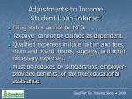 adjustments to income student loan interest61