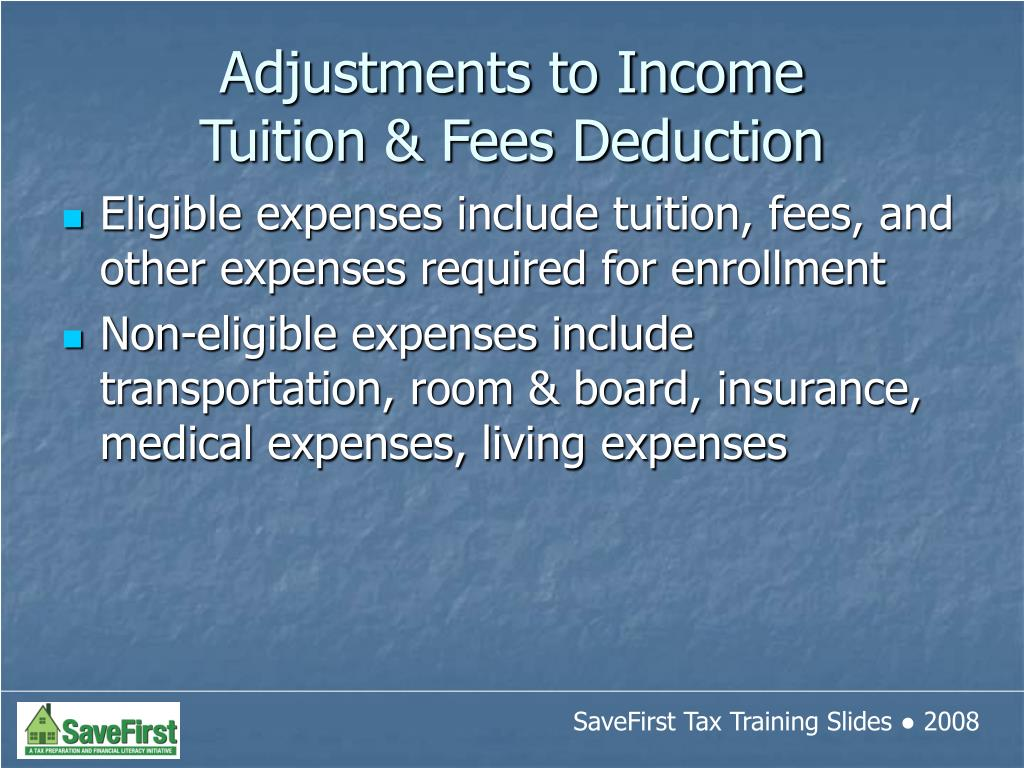 Eligible expenses include tuition, fees, and other expenses required for enrollment