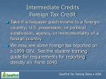 intermediate credits foreign tax credit