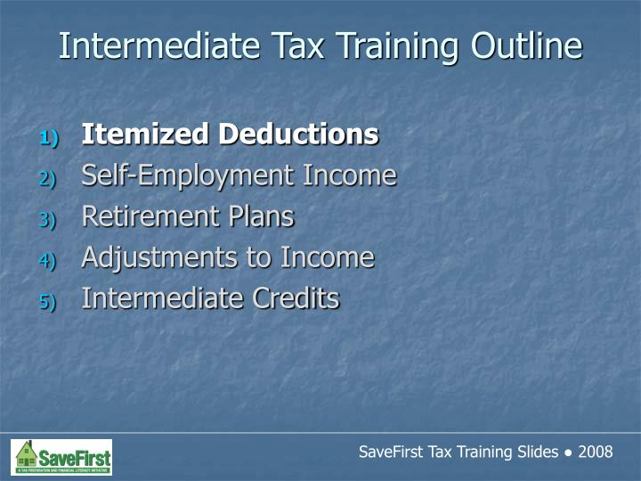 Intermediate tax training outline3