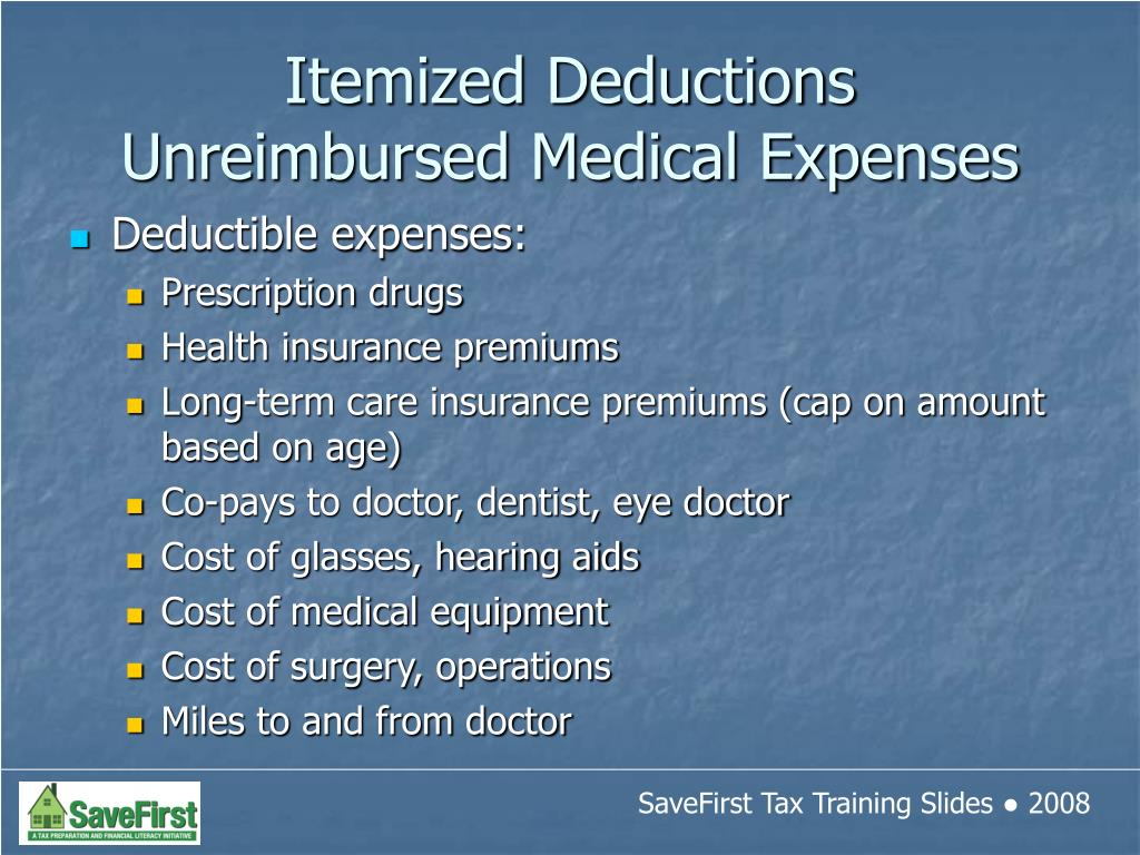 Deductible expenses: