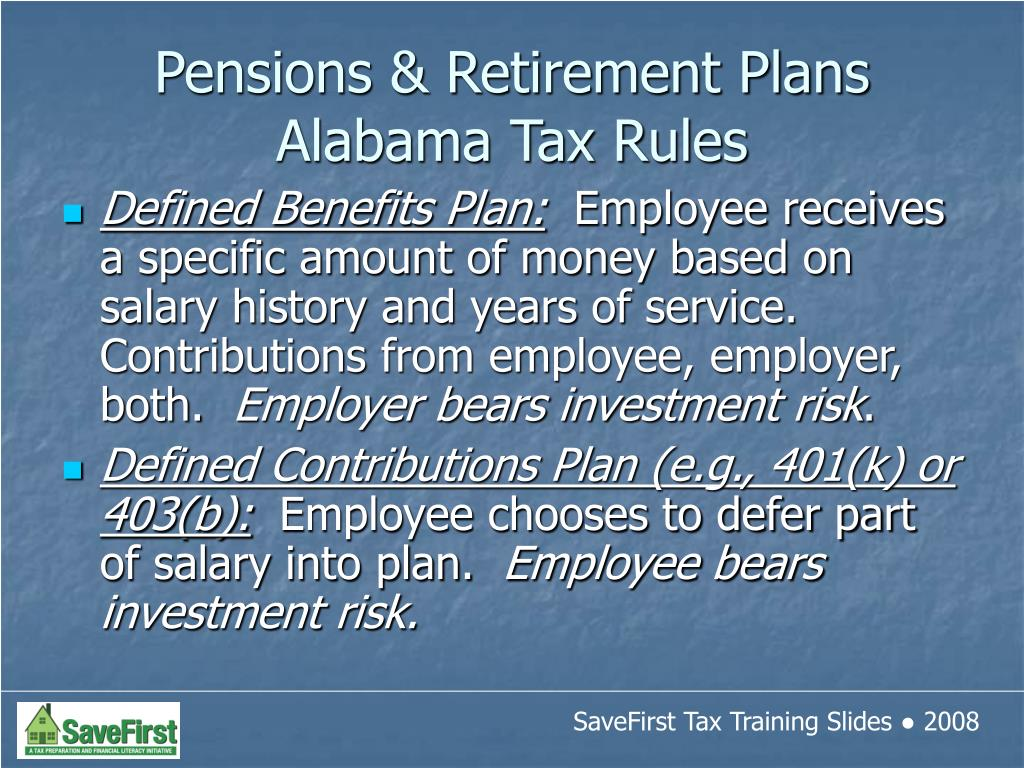 Defined Benefits Plan: