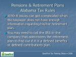 pensions retirement plans alabama tax rules46