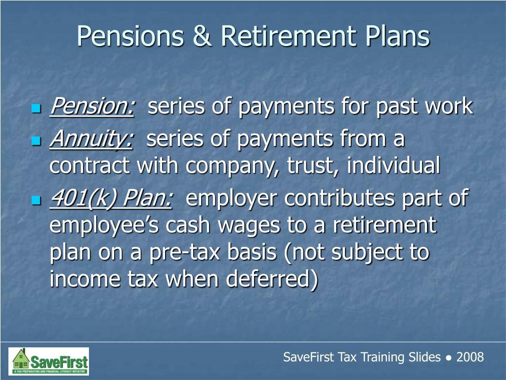 Pension: