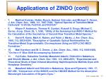 applications of zindo cont