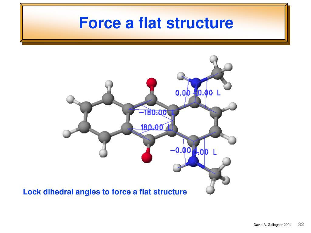Force a flat structure