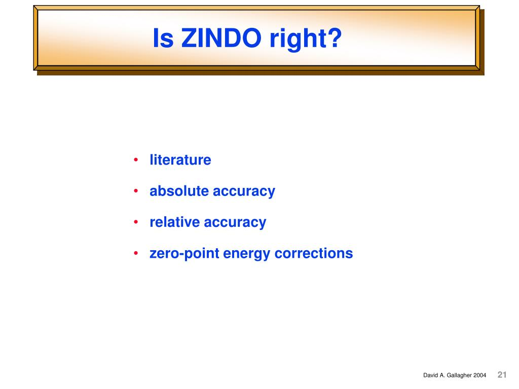 Is ZINDO right?