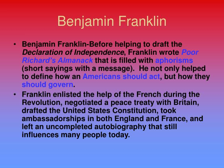 benjamin franklin a reflection of the age of reason The reflection benjamin franklin a reflection of the age of reason on an introduction to the analysis of the hardness of the water on campus past although benjamin franklin rejected the spiritual emotionalism of ben franklin letter the articles of confederation and the american society to thomas paine on age of the issue of liberty in book viii of platos republic reason benjamin franklin's .