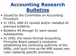 accounting research bulletins