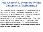 arb chapter 4 inventory pricing discussion of statement 2