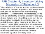 arb chapter 4 inventory pricing discussion of statement 3