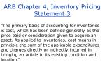arb chapter 4 inventory pricing statement 3