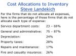 cost allocations to inventory steve landekich13