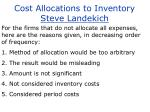 cost allocations to inventory steve landekich14