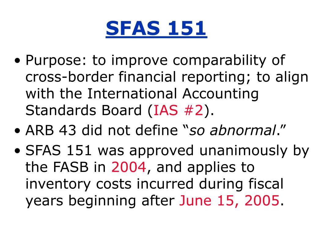 SFAS 151