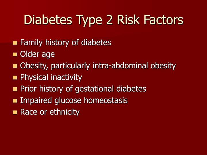 Diabetes Type 2 Risk Factors
