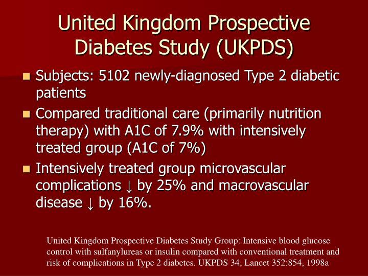 United Kingdom Prospective Diabetes Study (UKPDS)