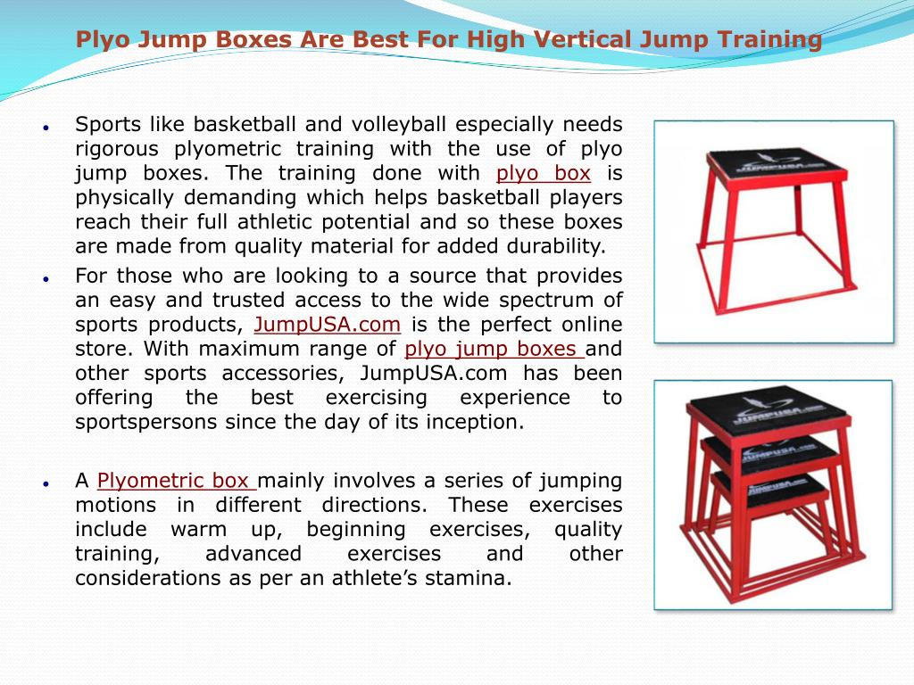Plyo Jump Boxes Are Best For High Vertical Jump Training