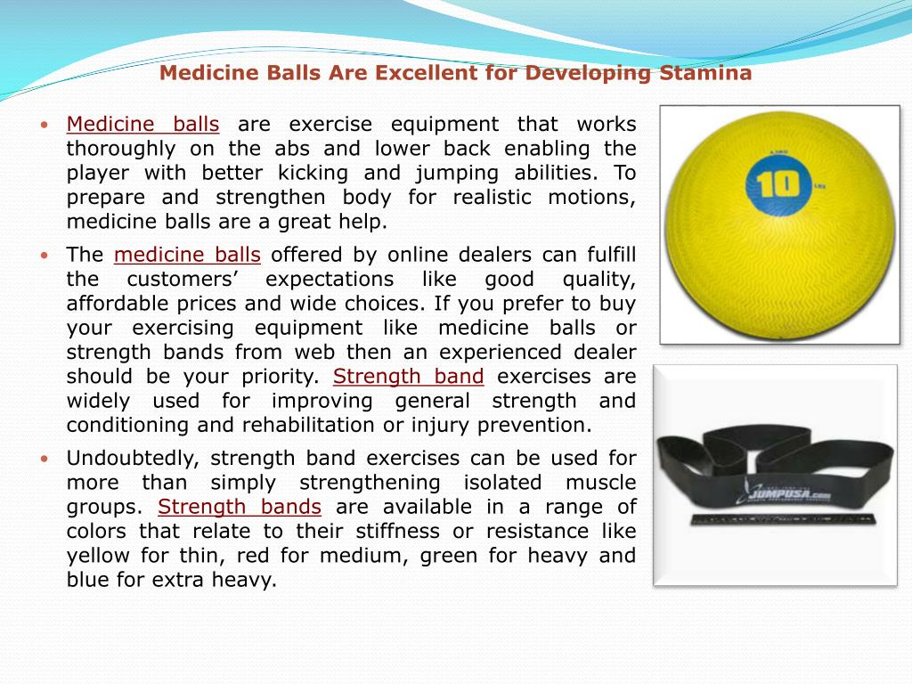 Medicine Balls Are Excellent for Developing Stamina