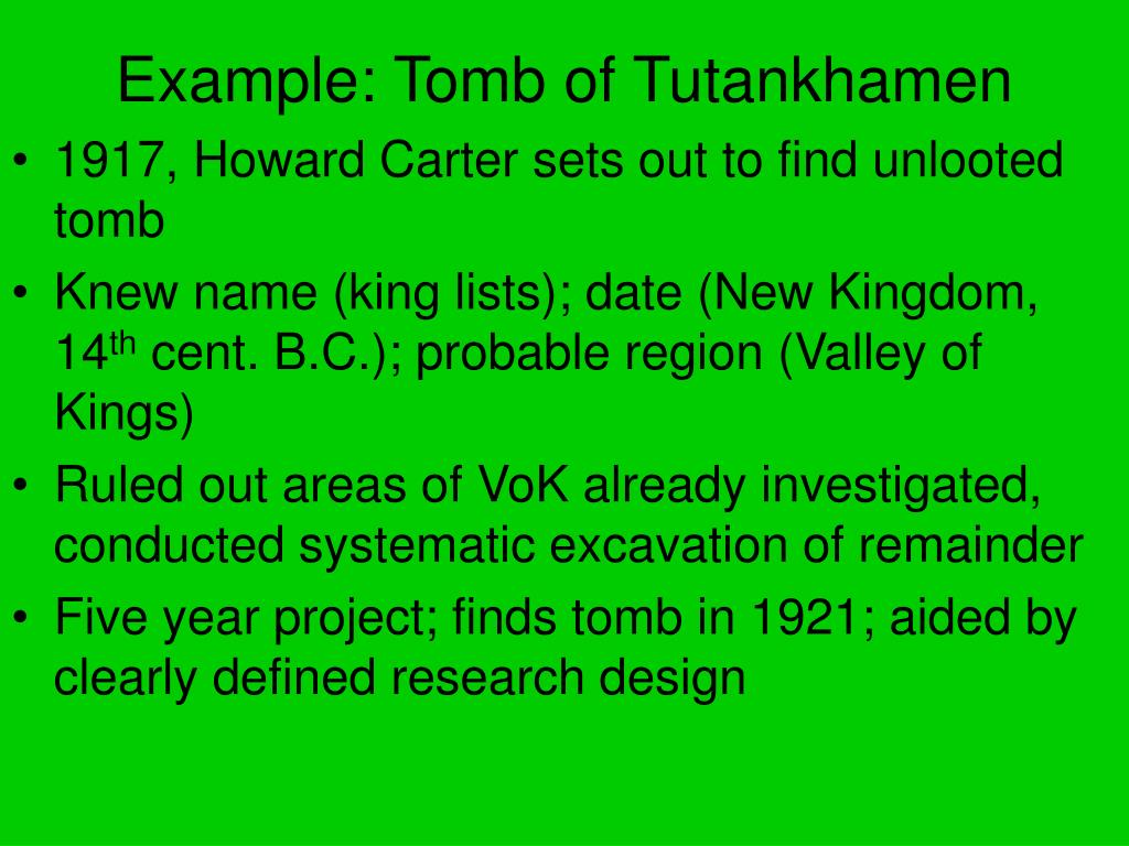 Example: Tomb of Tutankhamen
