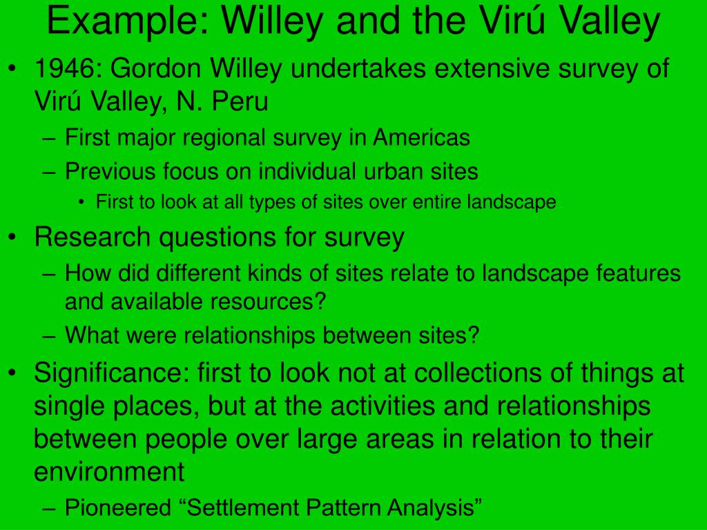 Example: Willey and the Vir