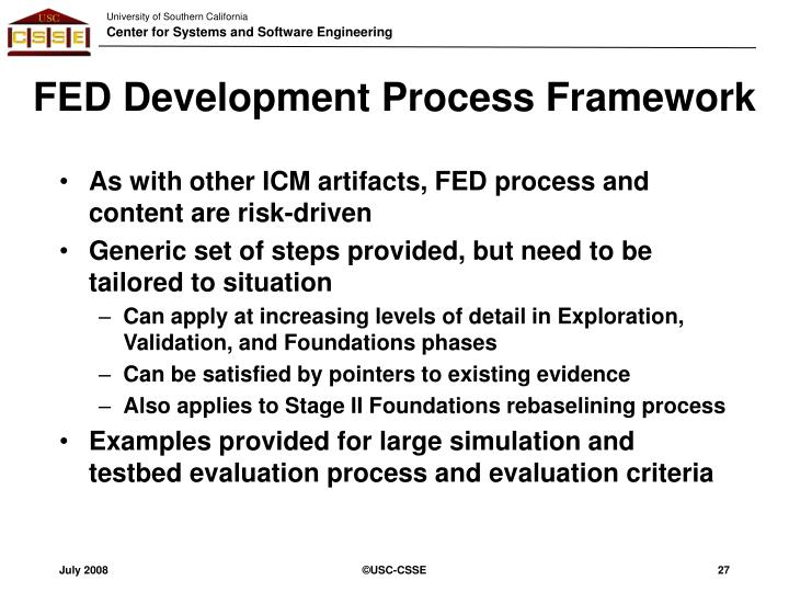 FED Development Process Framework