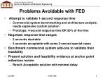 problems avoidable with fed