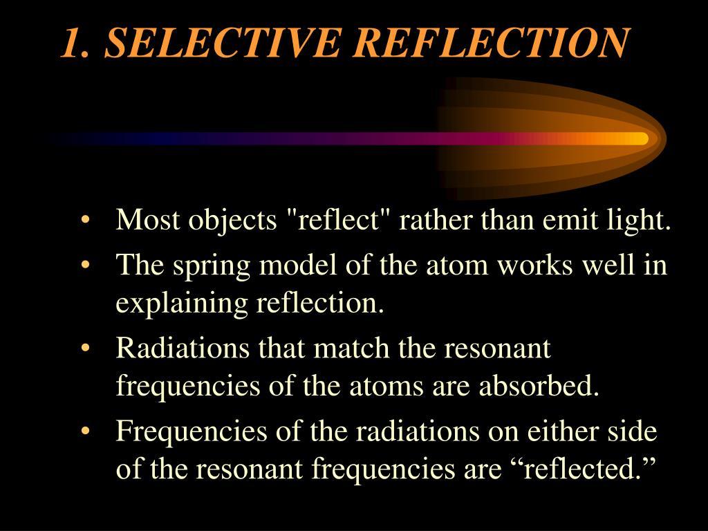 1.SELECTIVE REFLECTION