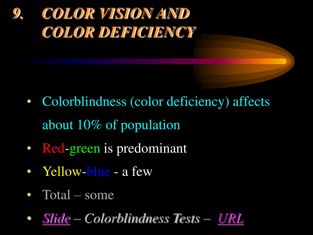 9.COLOR VISION AND