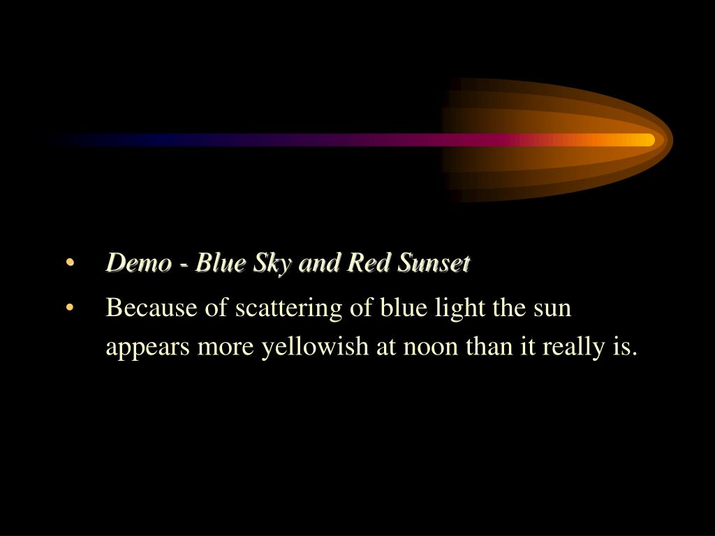 Demo - Blue Sky and Red Sunset