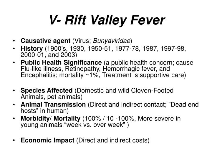 V- Rift Valley Fever