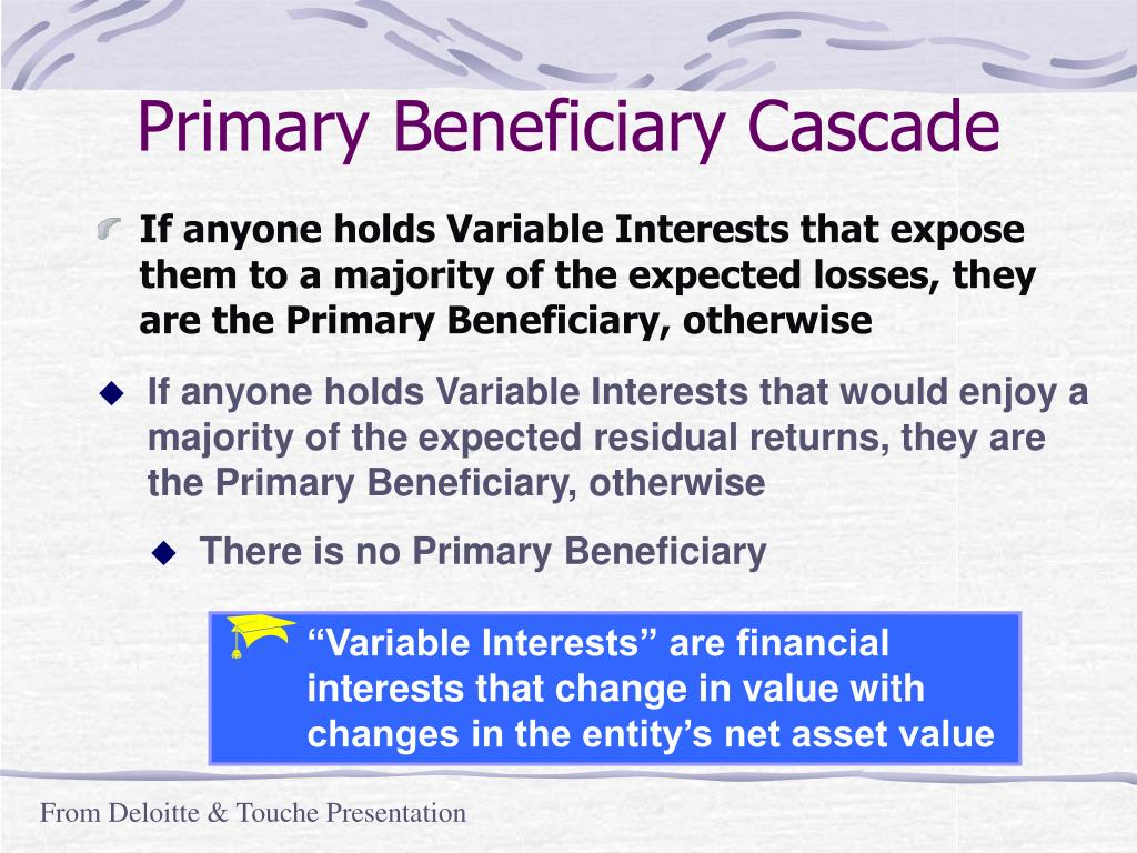 Primary Beneficiary Cascade
