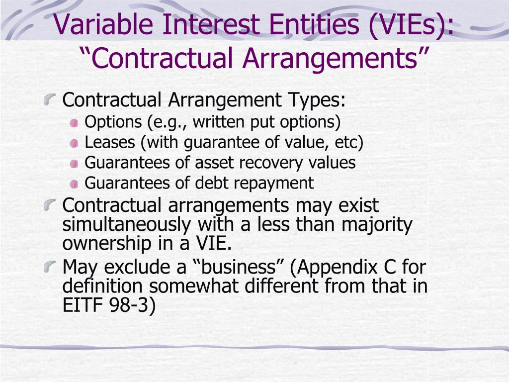 "Variable Interest Entities (VIEs): ""Contractual Arrangements"""