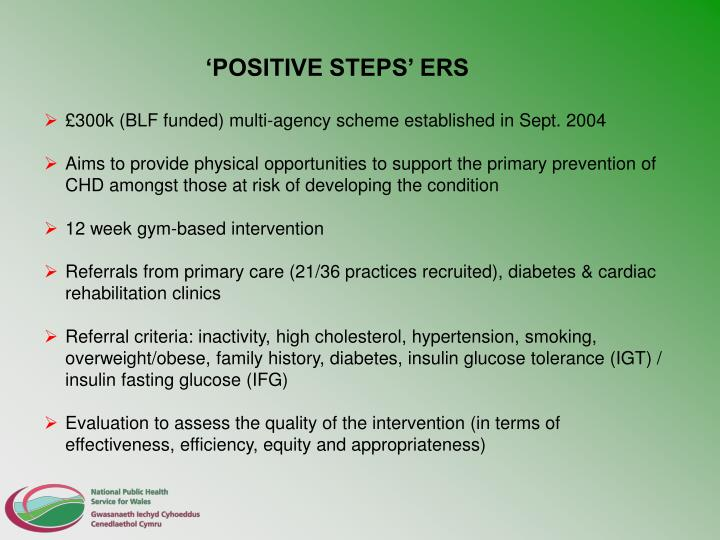 'POSITIVE STEPS' ERS