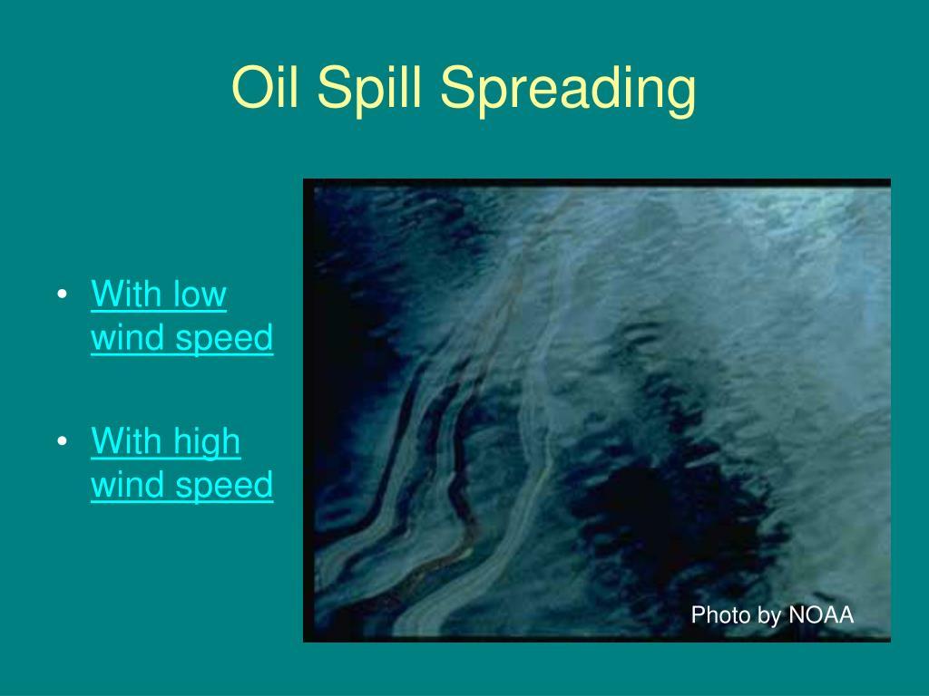 Oil Spill Spreading