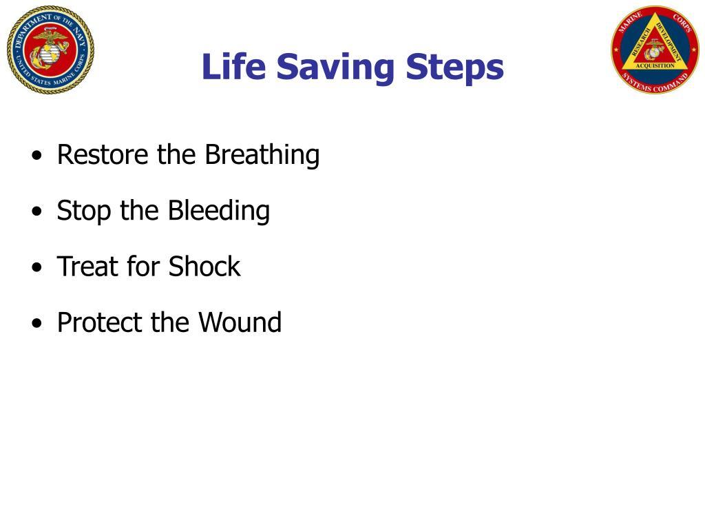Life Saving Steps