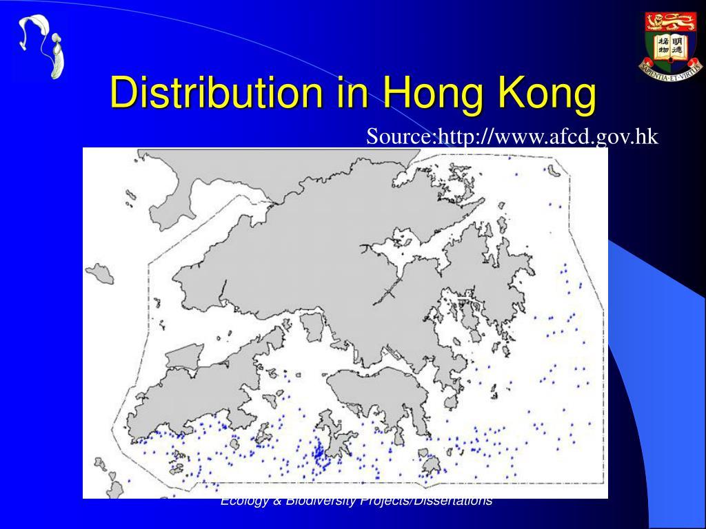 Distribution in Hong Kong