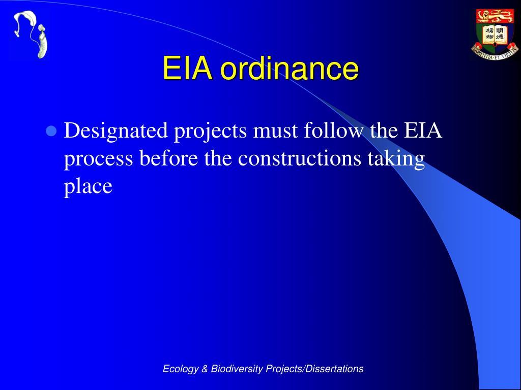 EIA ordinance