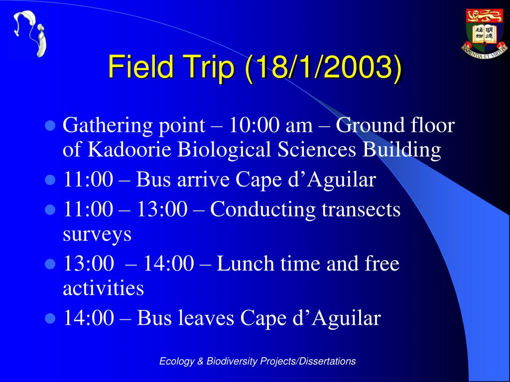 Field Trip (18/1/2003)