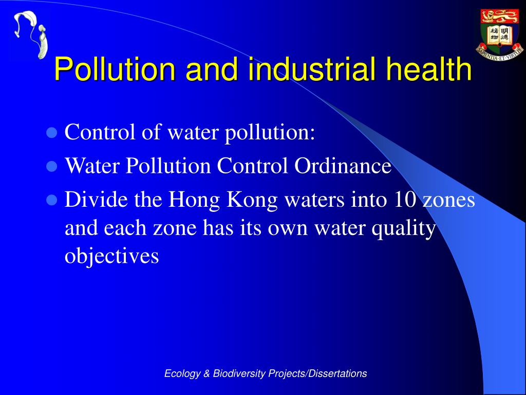 Pollution and industrial health