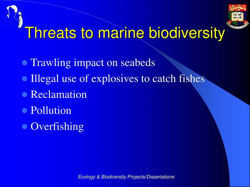 Threats to marine biodiversity