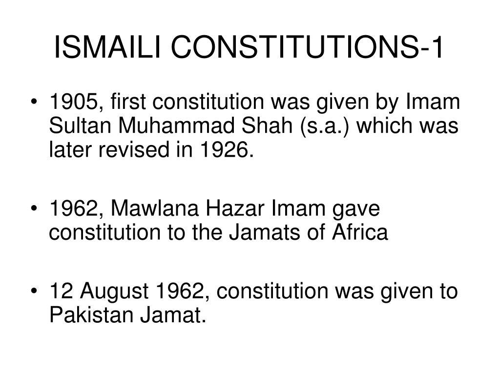 ISMAILI CONSTITUTIONS-1