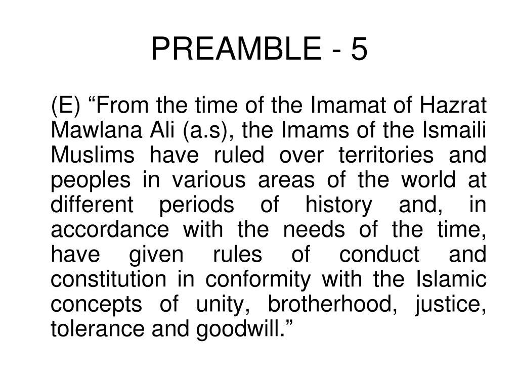 PREAMBLE - 5