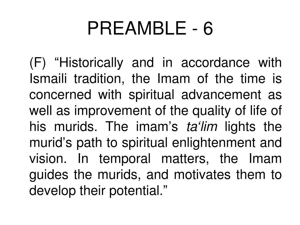 PREAMBLE - 6