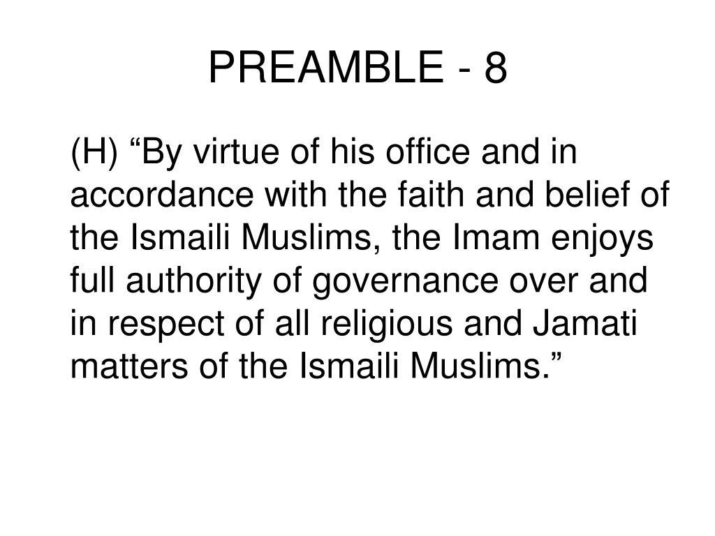 PREAMBLE - 8