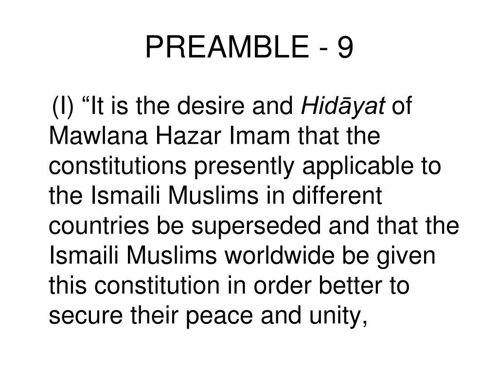 PREAMBLE - 9