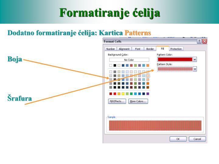 Formatiranje ćelija