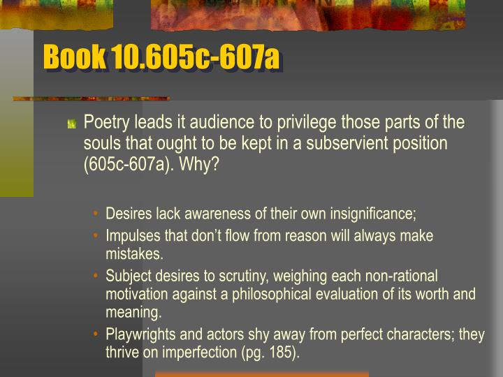 Book 10.605c-607a